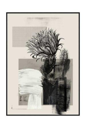 artisanal flora greyscale 1 498x738px