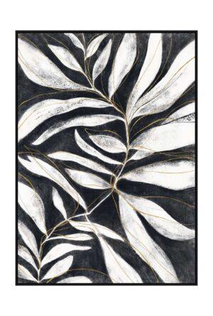 leaf foliage art white 498x738px